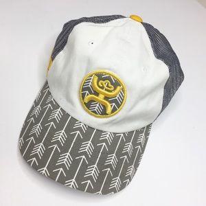 Hooey SnapBack baseball hat gray yellow EUC